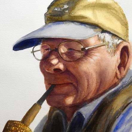 CINDY STURLA - 'Charles Reid with Corn Cob Pipe'