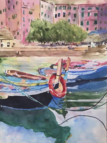 MARY KAY VANKLEUNEN - 'The Boats of Vernazza'