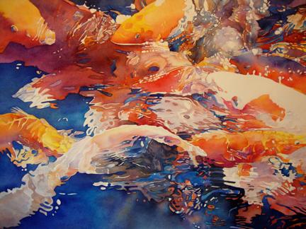 "SANDI HANLON-BREUER - ""Rorschach Aquatica II"""